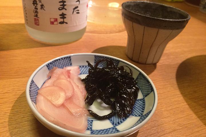 自家製の生姜甘酢漬け