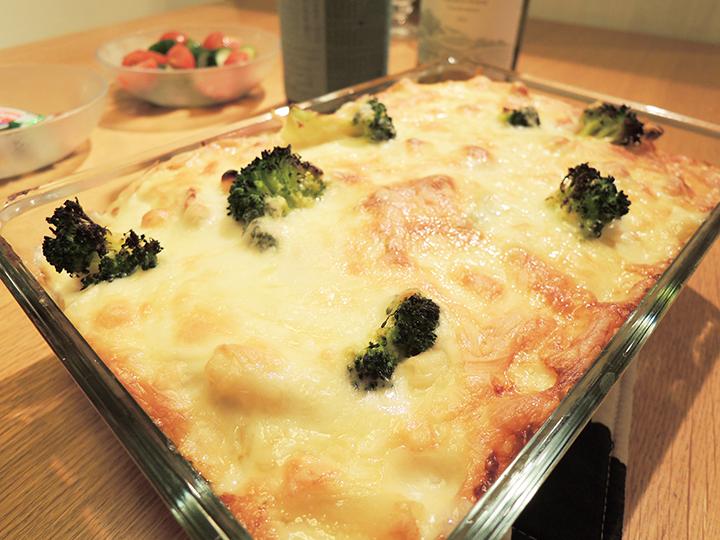 チーズたっぷりのグラタン