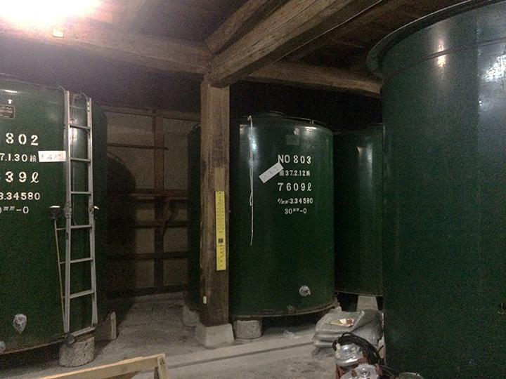 仕込みタンク庫
