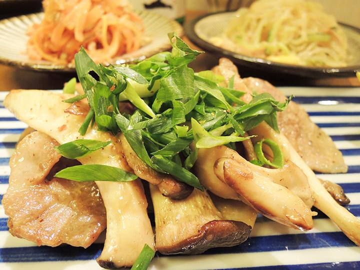 豚肉とエリンギ炒め