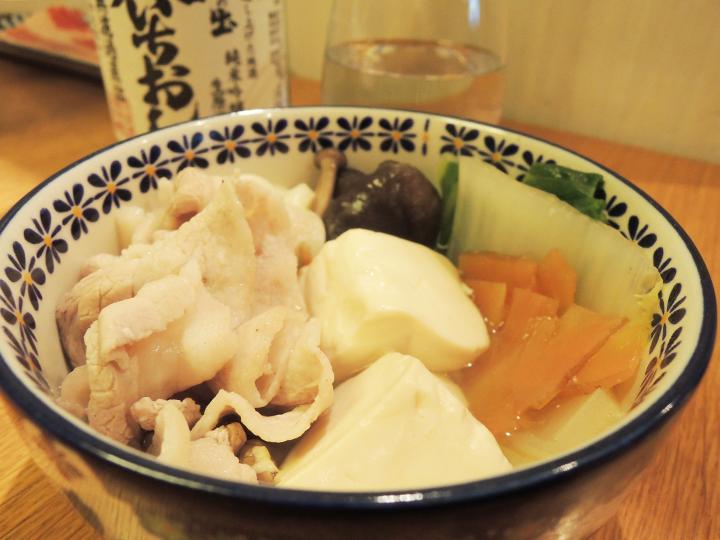 豚しゃぶと豆腐のお鍋