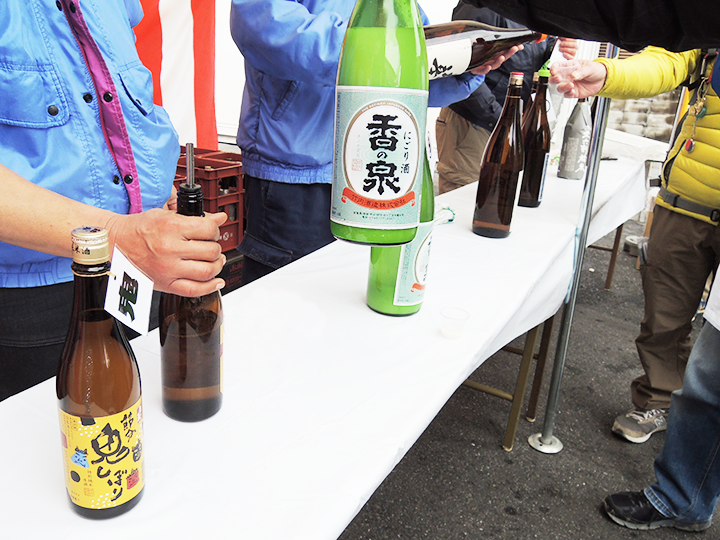 竹内酒造さんの試飲コーナー