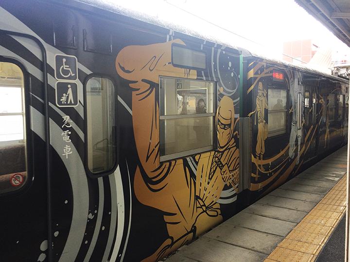 草津線の電車のラッピング