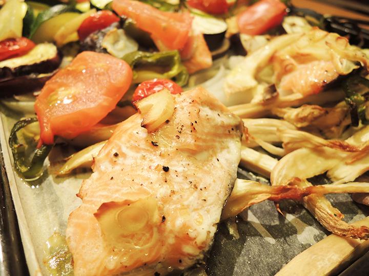 鮭と野菜のグリルや気