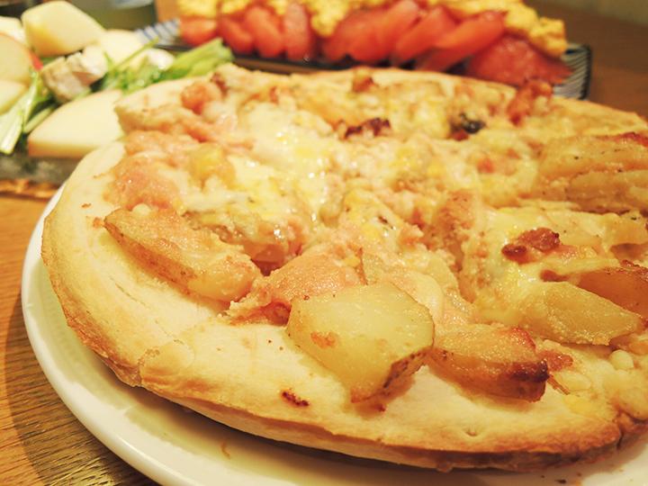 ポテトと明太子のピザ