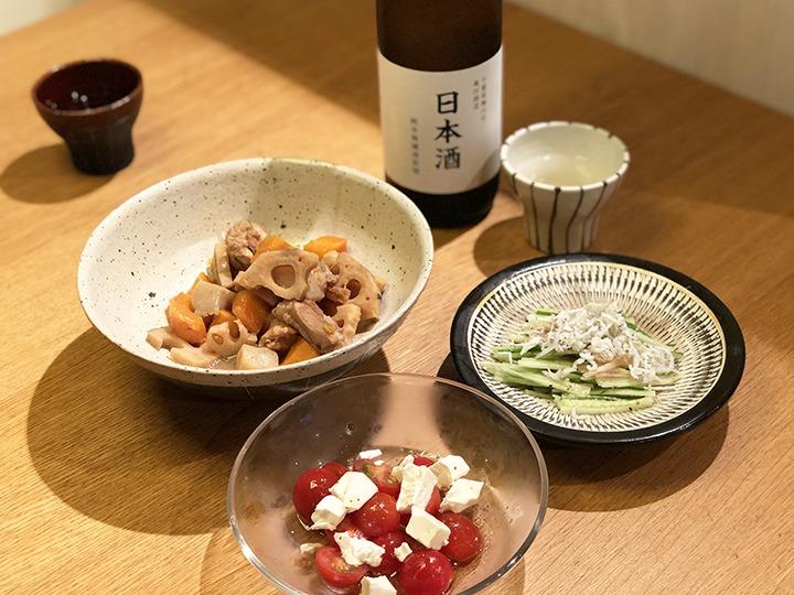 筑前煮と小皿2品